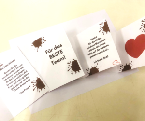 Geschenkidee Ostern foodevents.ch Osterhase mit Nachricht im Bauch